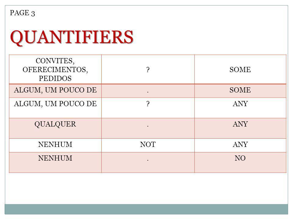 CONVITES, OFERECIMENTOS,