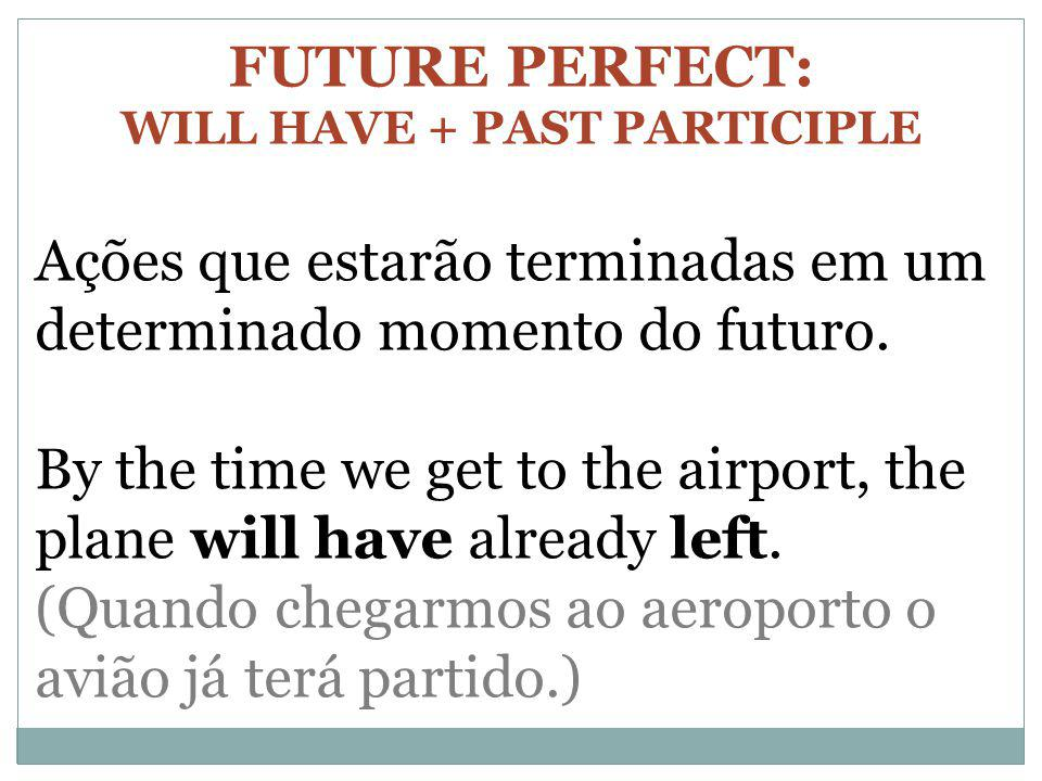 WILL HAVE + PAST PARTICIPLE