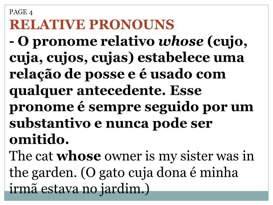 PAGE 4 RELATIVE PRONOUNS.
