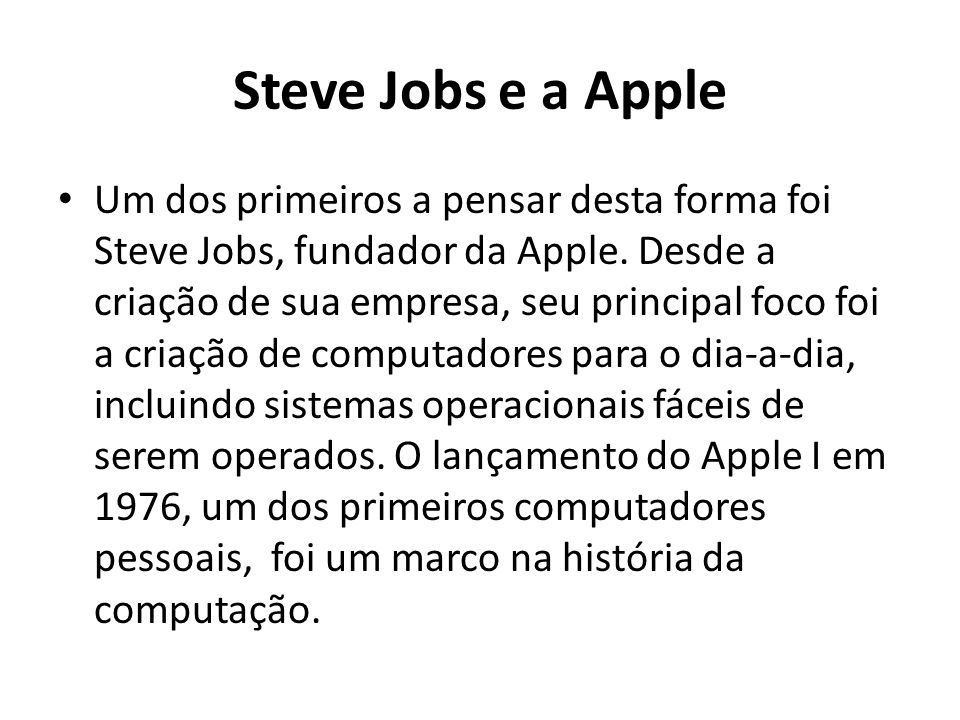 Steve Jobs e a Apple