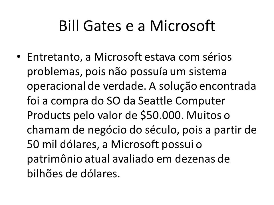Bill Gates e a Microsoft
