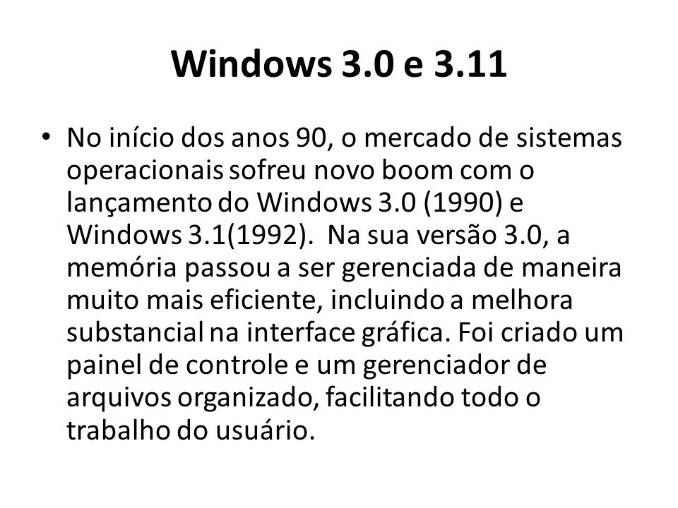 Windows 3.0 e 3.11