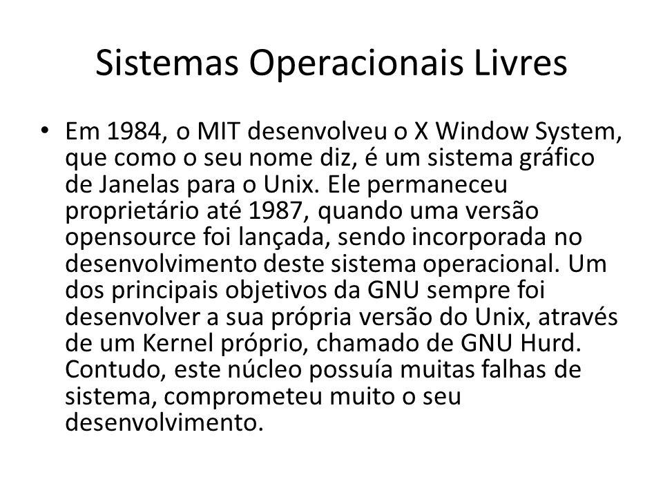 Sistemas Operacionais Livres