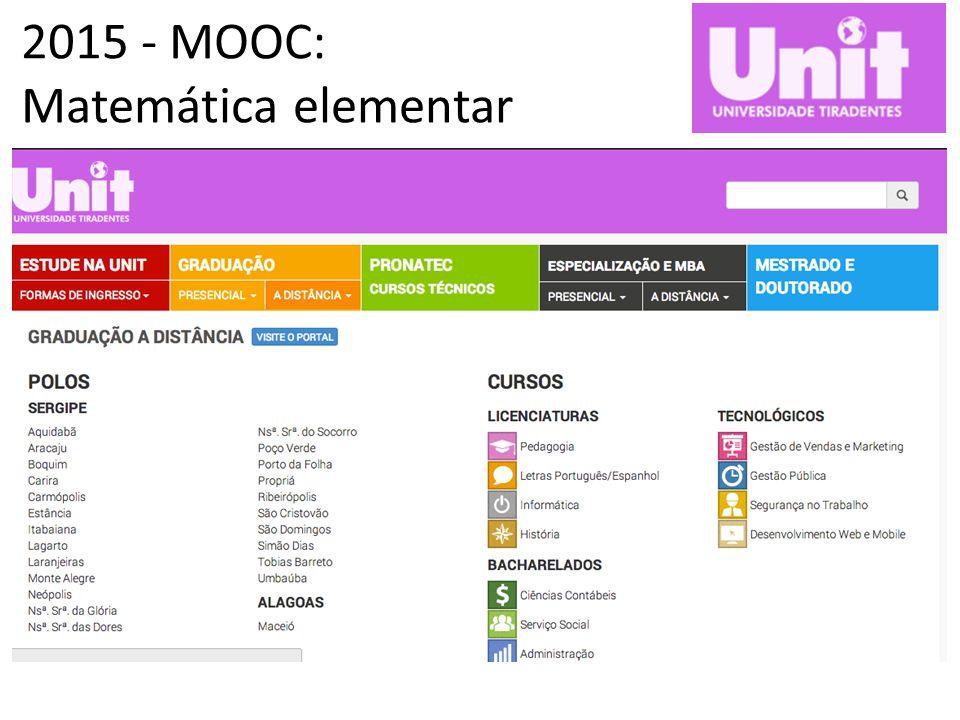 2015 - MOOC: Matemática elementar