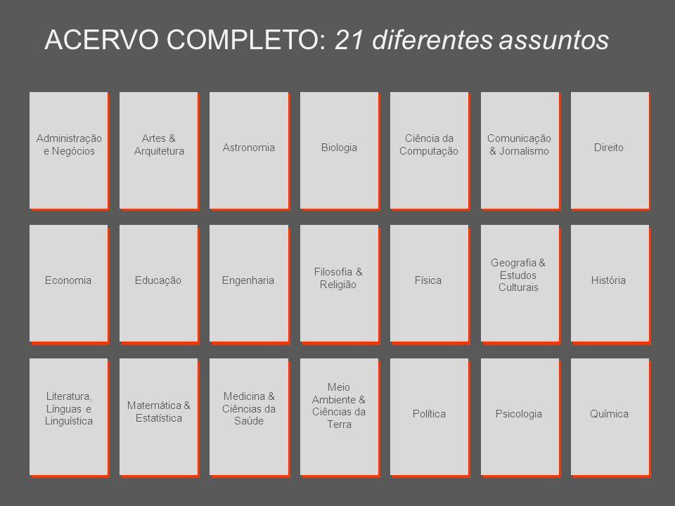 ACERVO COMPLETO: 21 diferentes assuntos