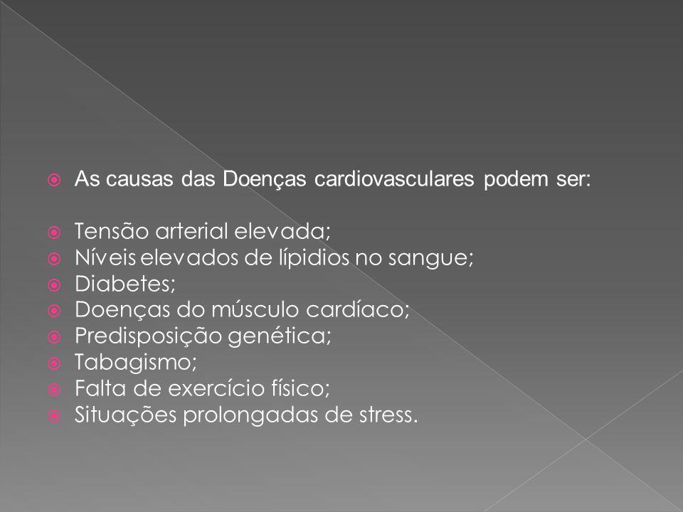 As causas das Doenças cardiovasculares podem ser: