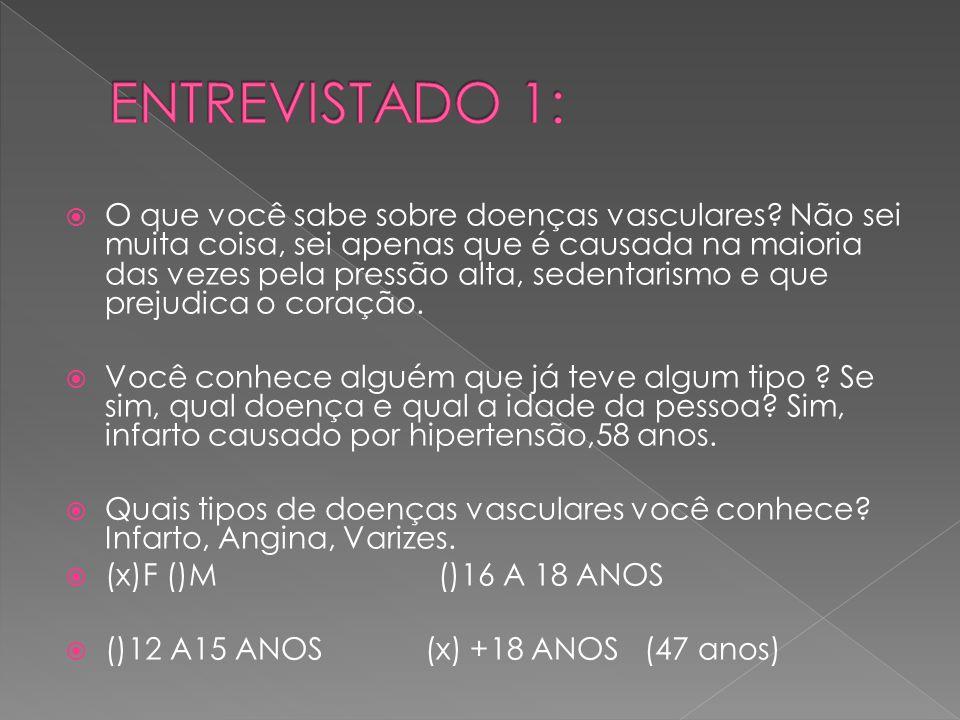 ENTREVISTADO 1: