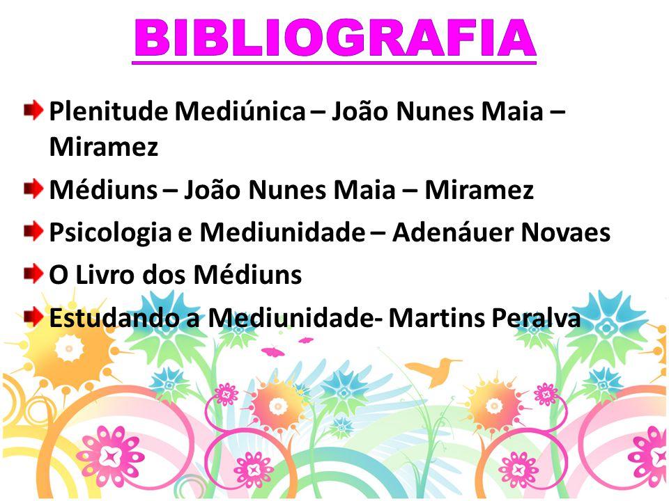 BIBLIOGRAFIA Plenitude Mediúnica – João Nunes Maia – Miramez