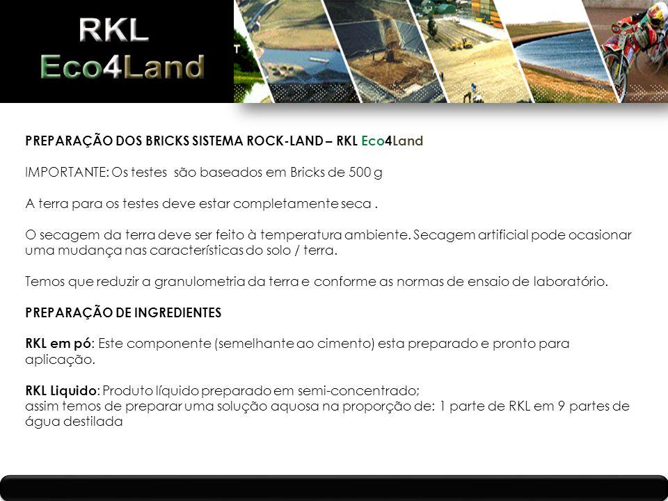 PREPARAÇÃO DOS BRICKS SISTEMA ROCK-LAND – RKL Eco4Land