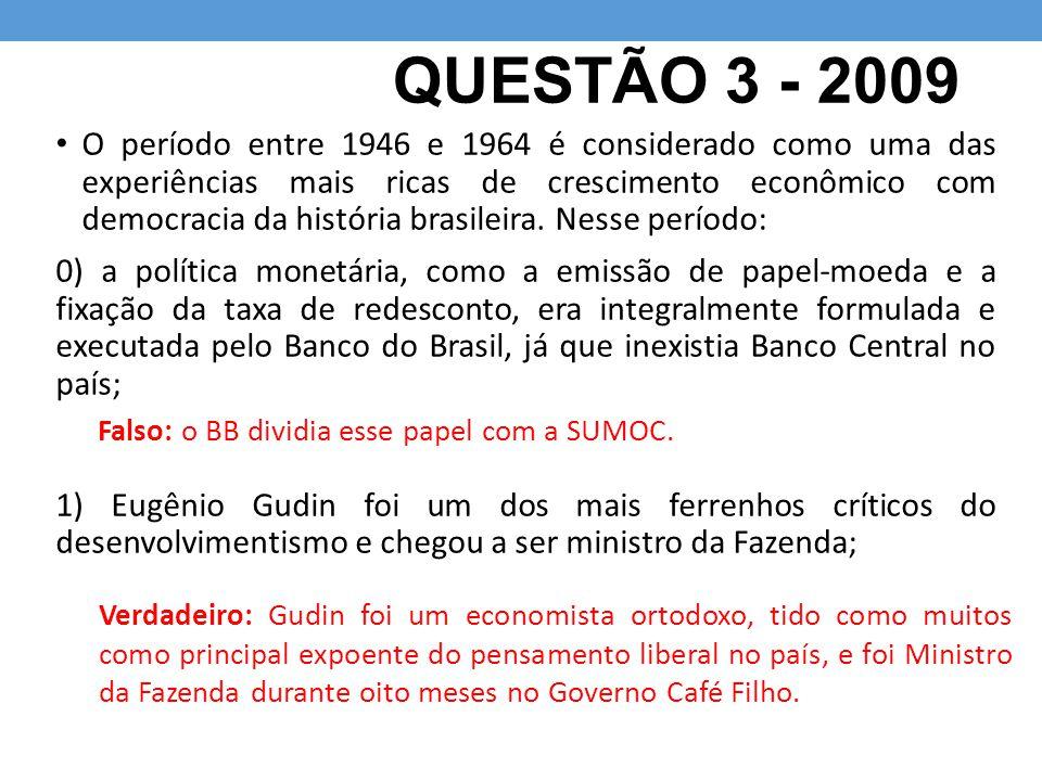 QUESTÃO 3 - 2009