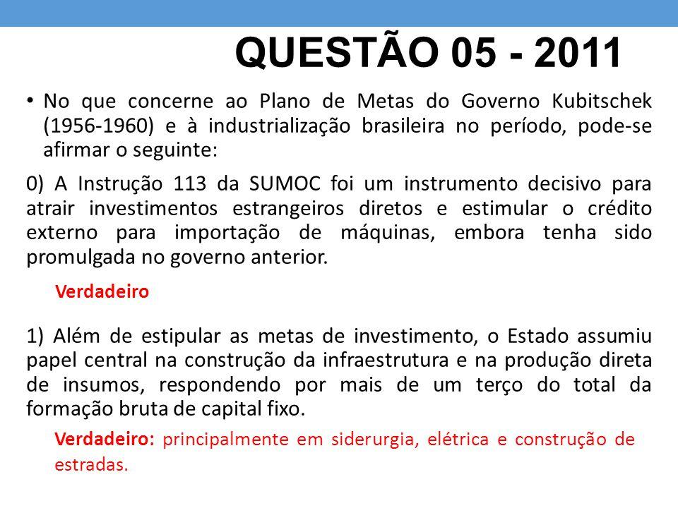 QUESTÃO 05 - 2011