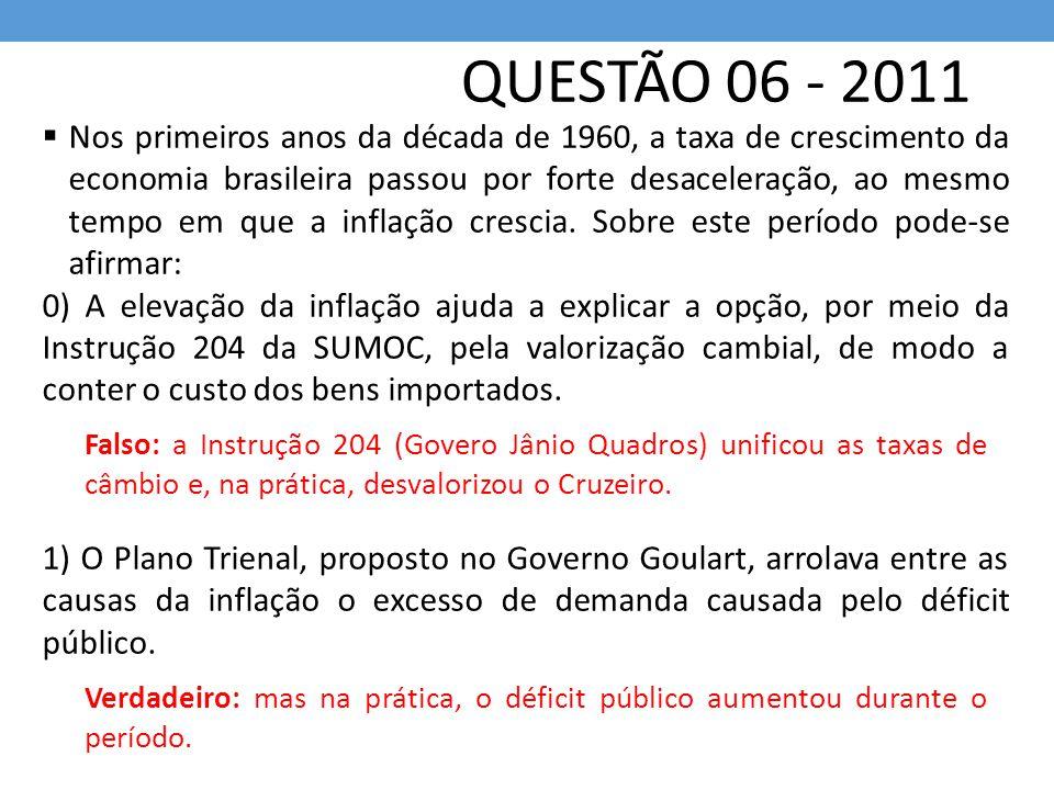 QUESTÃO 06 - 2011