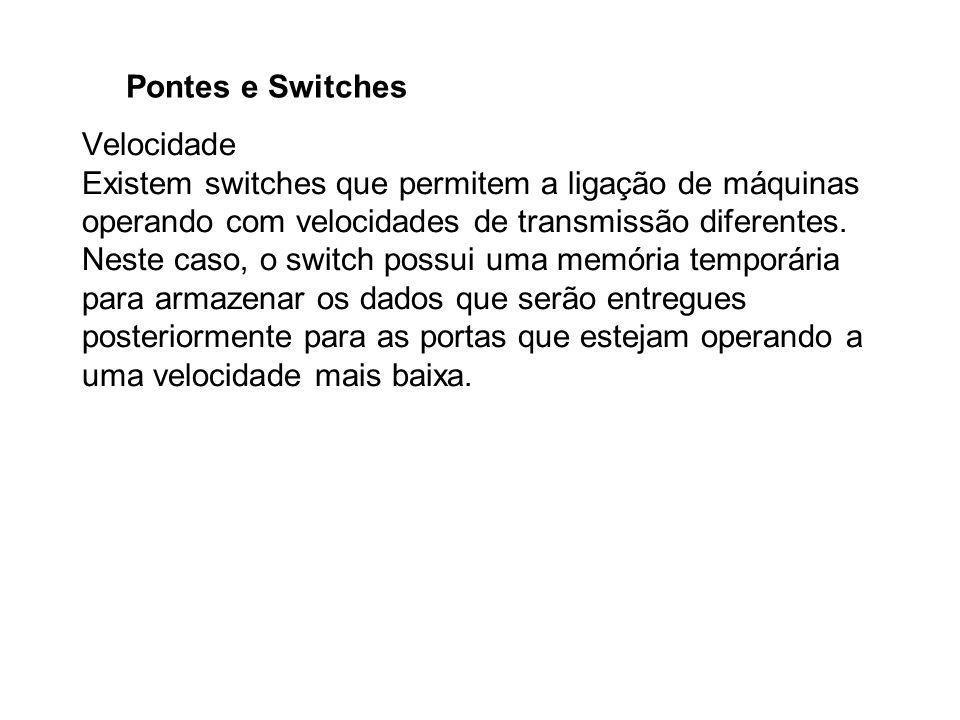 Pontes e Switches Velocidade.