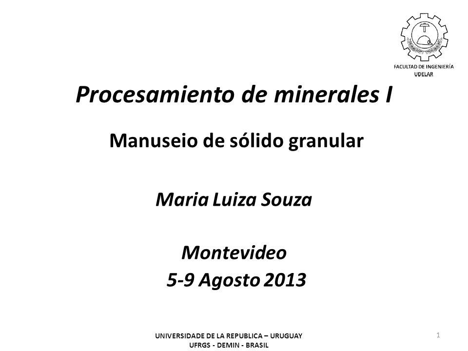 Procesamiento de minerales I Manuseio de sólido granular