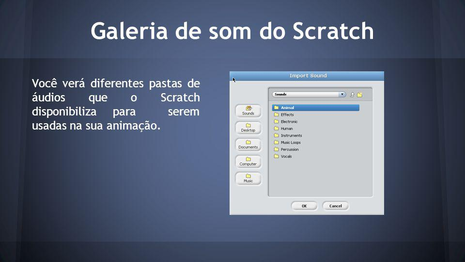 Galeria de som do Scratch