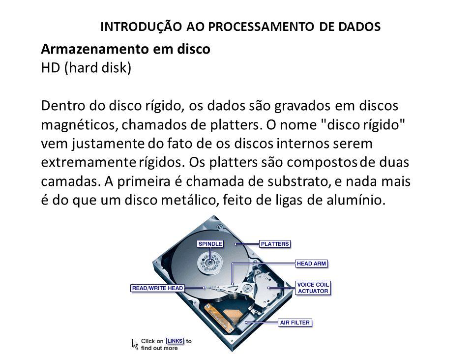 Armazenamento em disco HD (hard disk)
