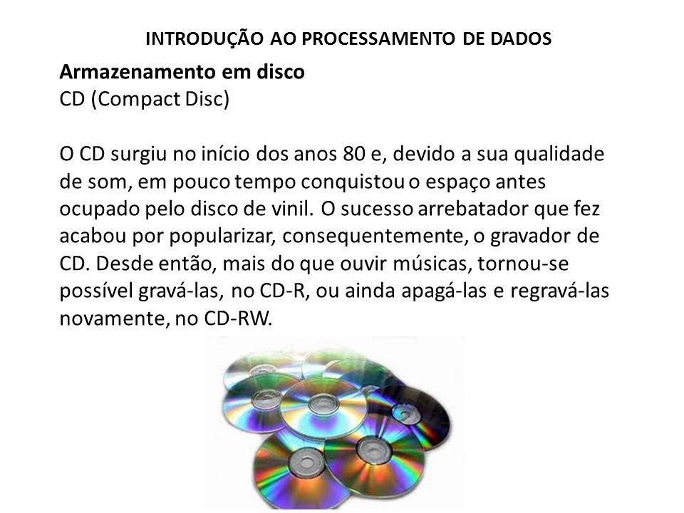 Armazenamento em disco CD (Compact Disc)