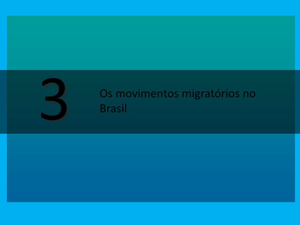 3 Os movimentos migratórios no Brasil