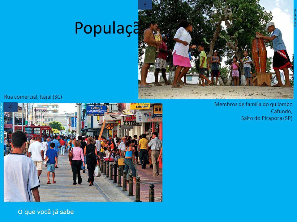 População brasileira 3 Rua comercial, Itajaí (SC)