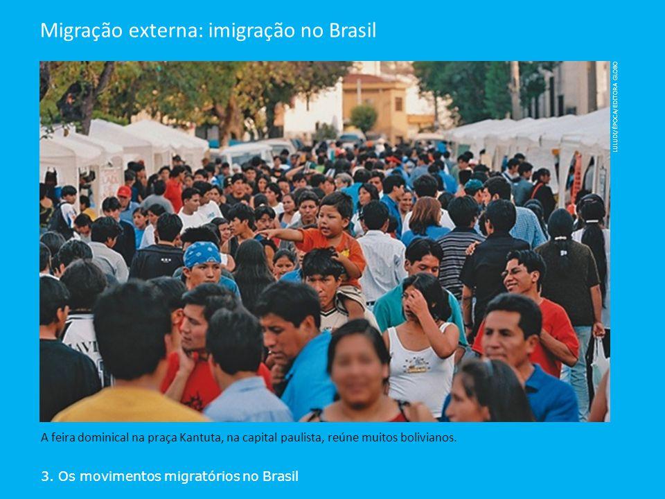 Migração externa: imigração no Brasil