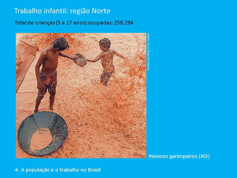 Trabalho infantil: região Norte