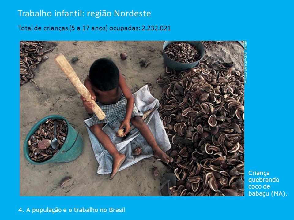 Trabalho infantil: região Nordeste