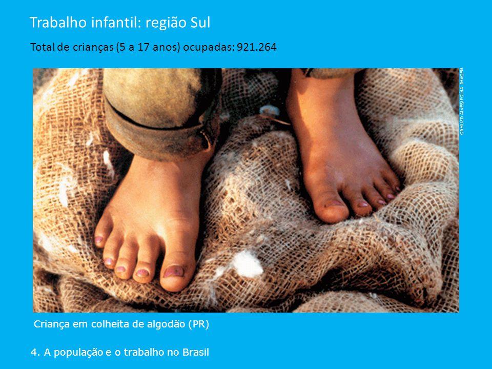 Trabalho infantil: região Sul