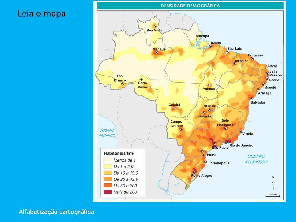 Leia o mapa Alfabetização cartográfica