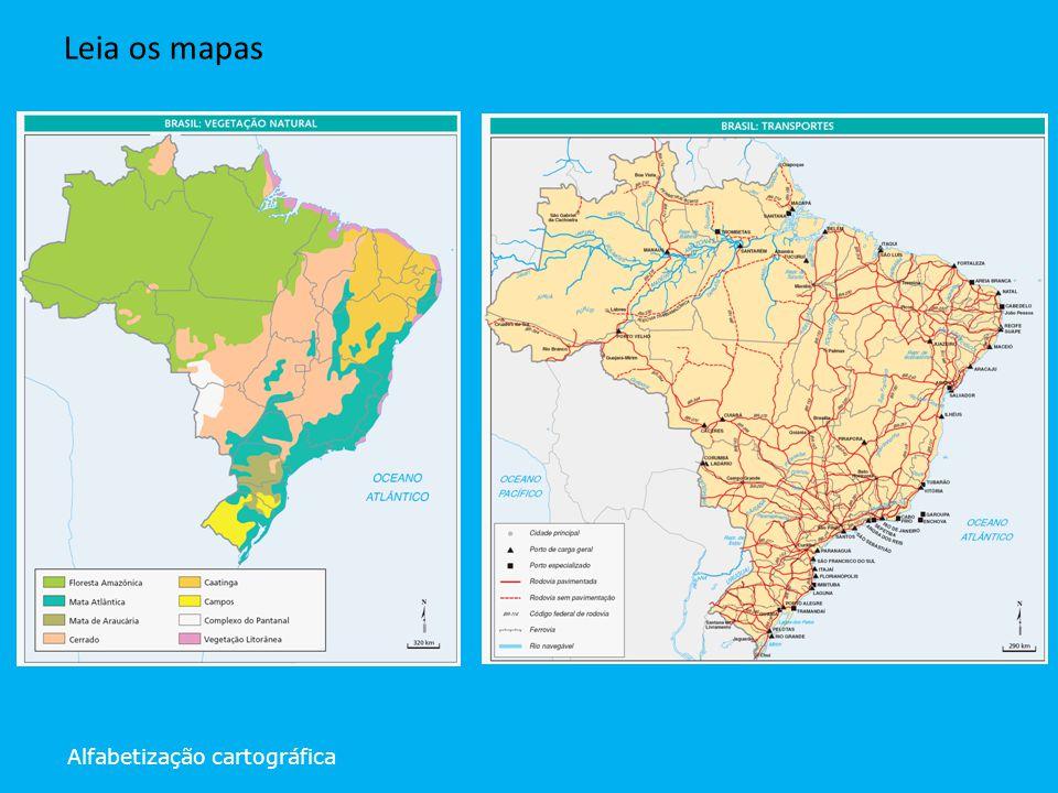 Leia os mapas Alfabetização cartográfica