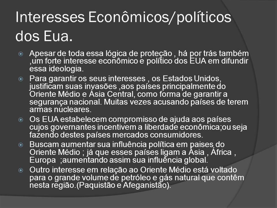 Interesses Econômicos/políticos dos Eua.