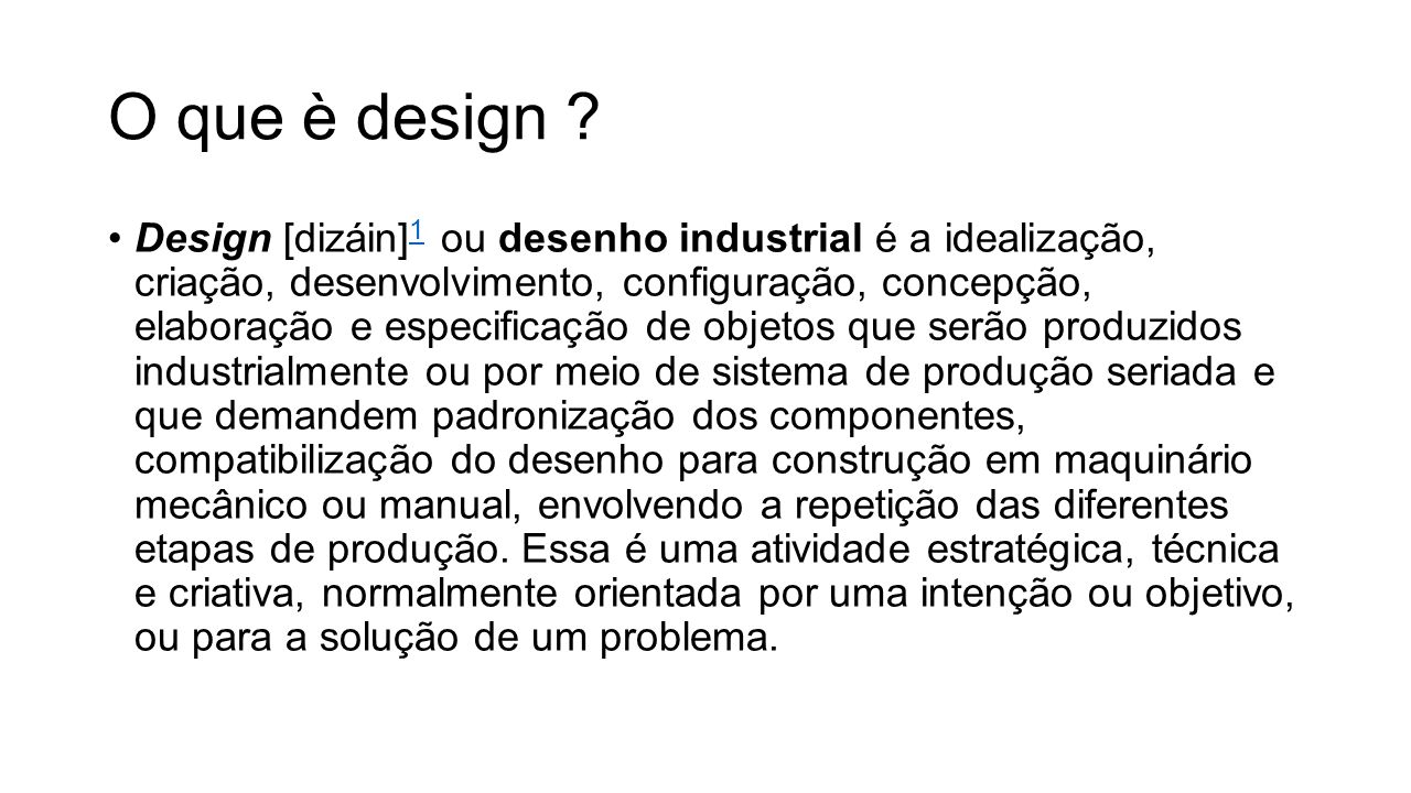 O que è design