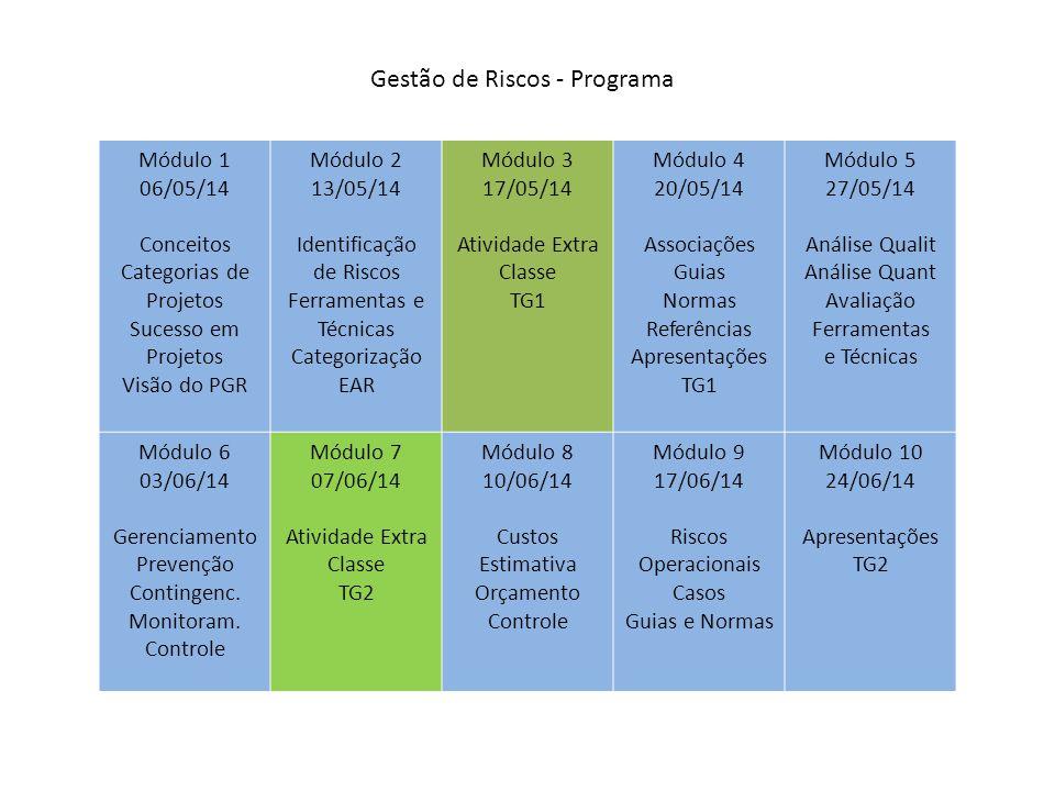 Gestão de Riscos - Programa