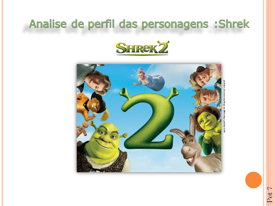 Analise de perfil das personagens :Shrek