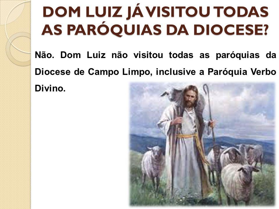 DOM LUIZ JÁ VISITOU TODAS AS PARÓQUIAS DA DIOCESE