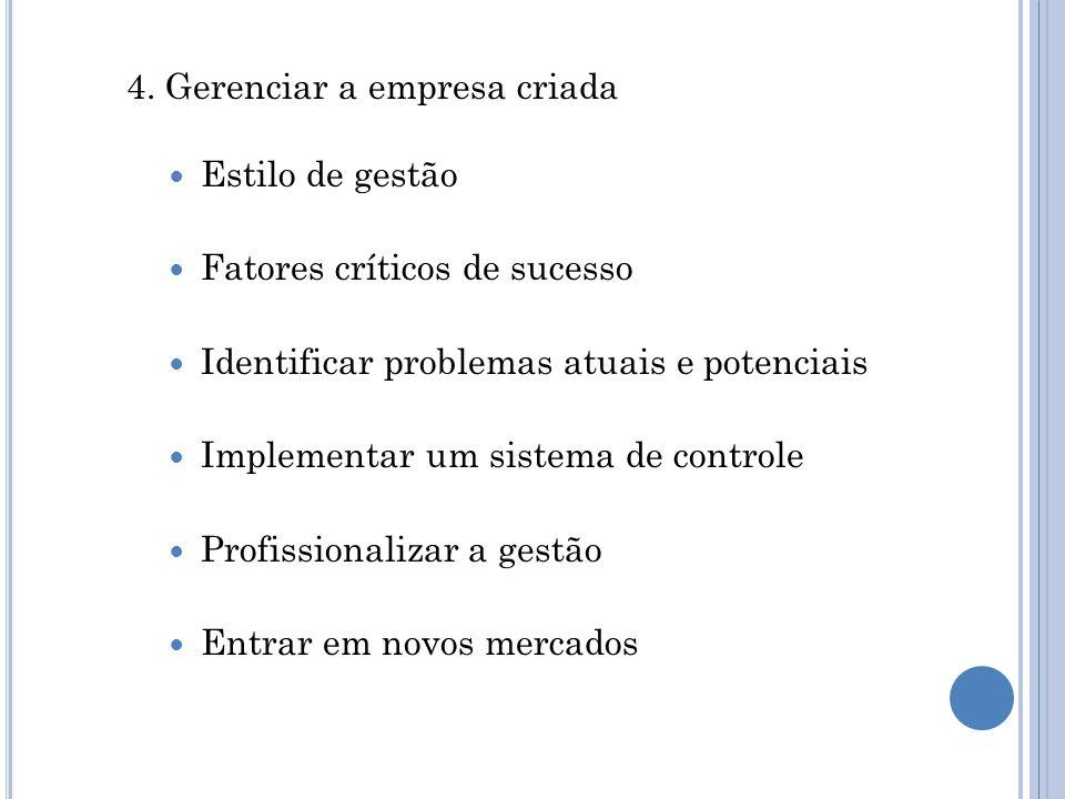 4. Gerenciar a empresa criada
