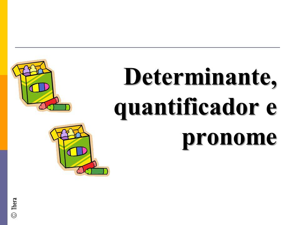 Determinante, quantificador e pronome