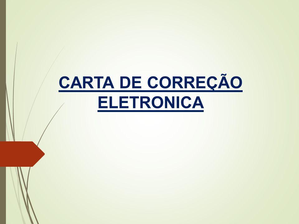 CARTA DE CORREÇÃO ELETRONICA
