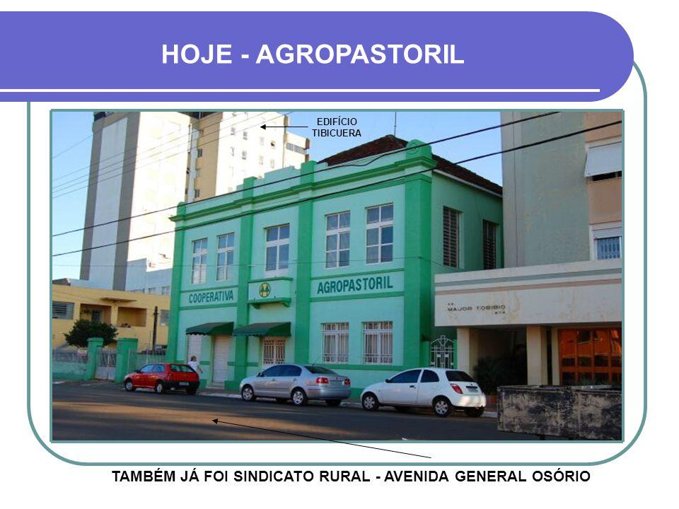 HOJE - AGROPASTORIL EDIFÍCIO TIBICUERA TAMBÉM JÁ FOI SINDICATO RURAL - AVENIDA GENERAL OSÓRIO