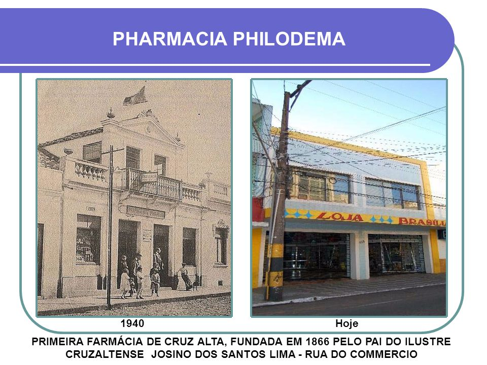 PHARMACIA PHILODEMA 1940 Hoje