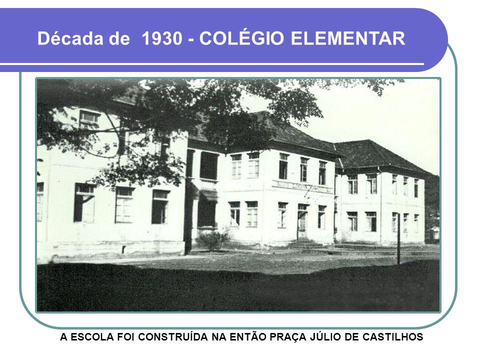 A ESCOLA FOI CONSTRUÍDA NA ENTÃO PRAÇA JÚLIO DE CASTILHOS