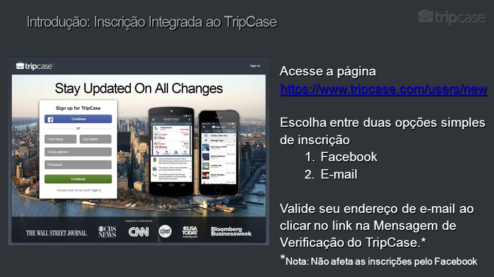 Introdução: Inscrição Integrada ao TripCase