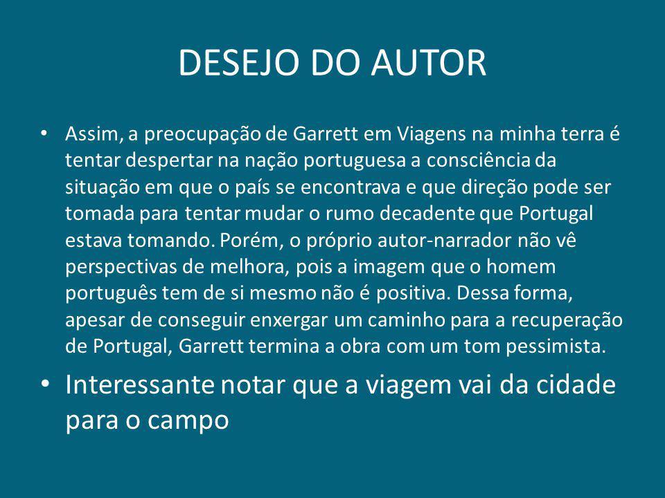 DESEJO DO AUTOR
