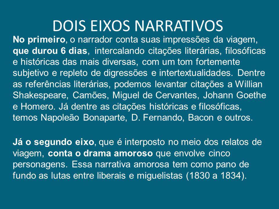 DOIS EIXOS NARRATIVOS