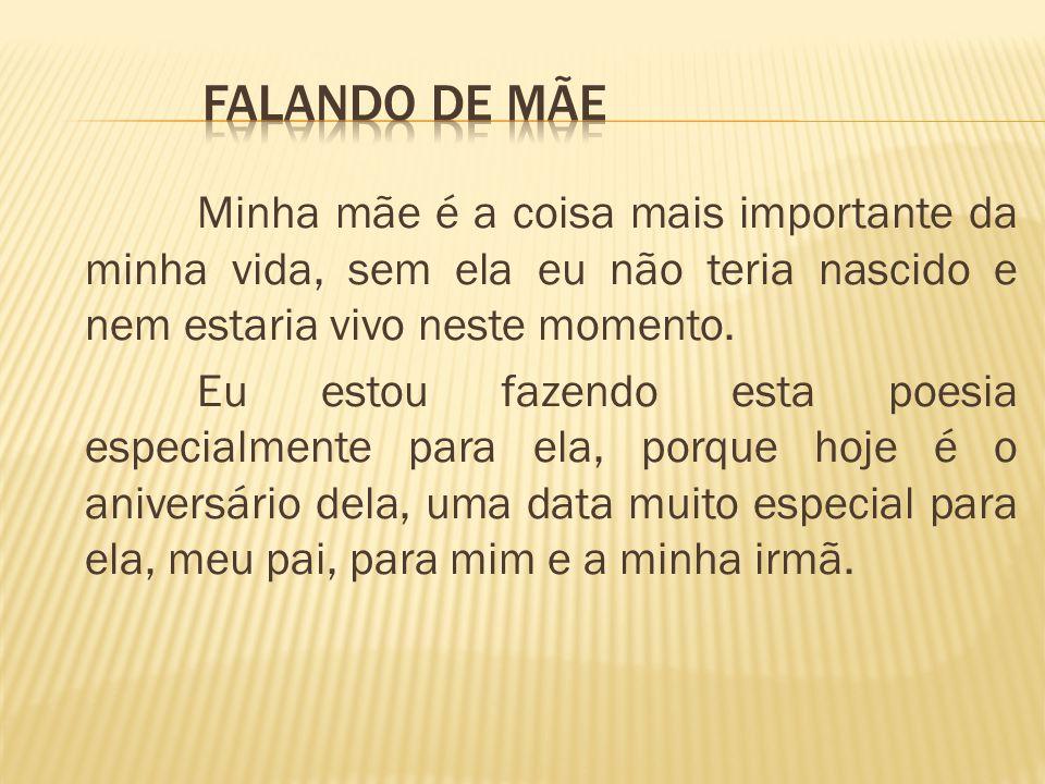 FALANDO DE MÃE