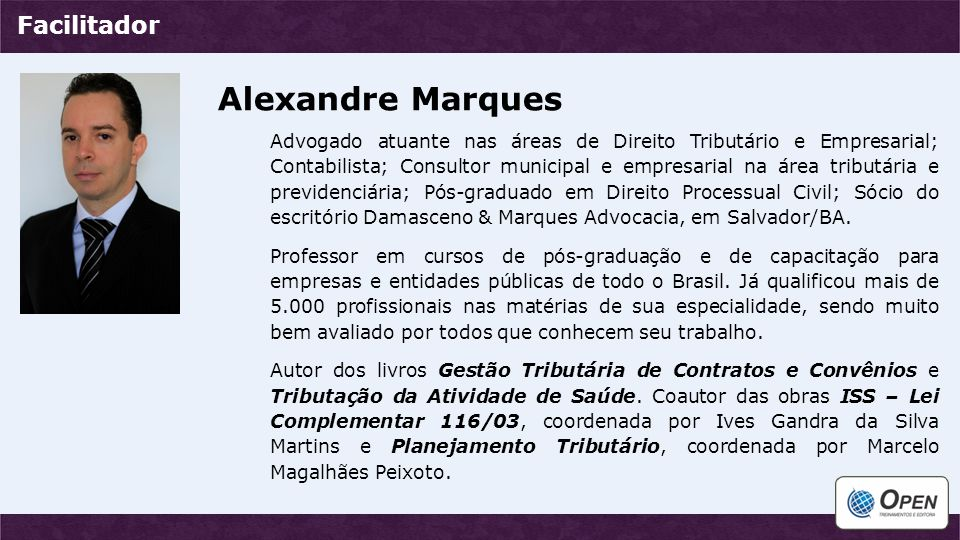 Alexandre Marques Facilitador