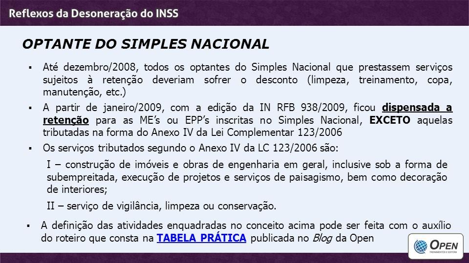 OPTANTE DO SIMPLES NACIONAL