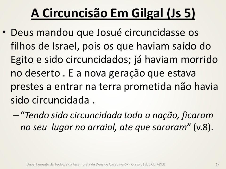 A Circuncisão Em Gilgal (Js 5)