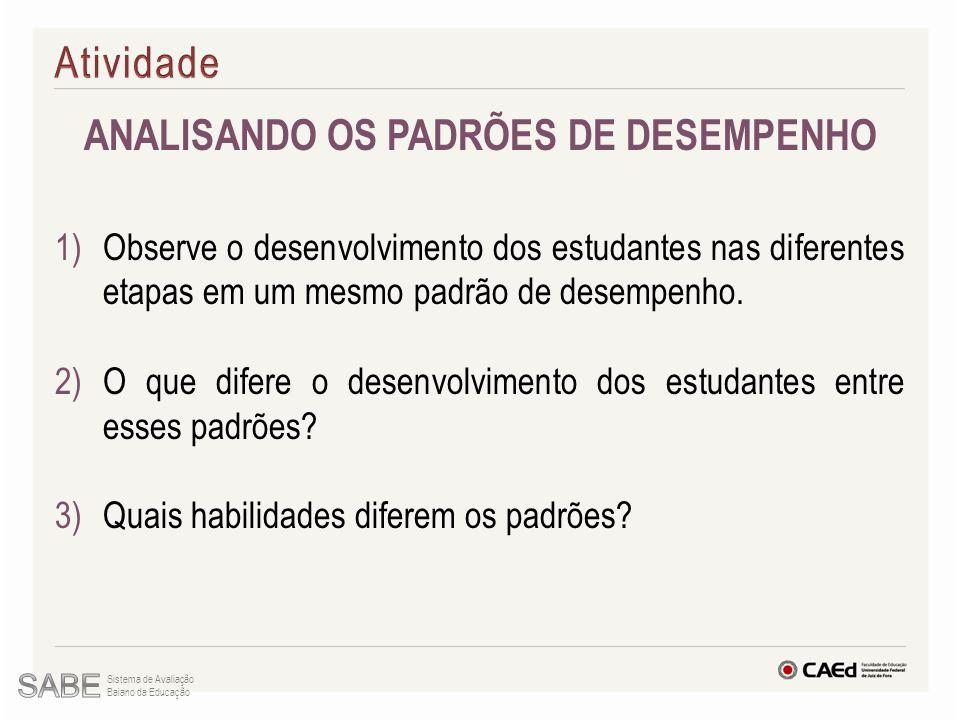 ANALISANDO OS PADRÕES DE DESEMPENHO