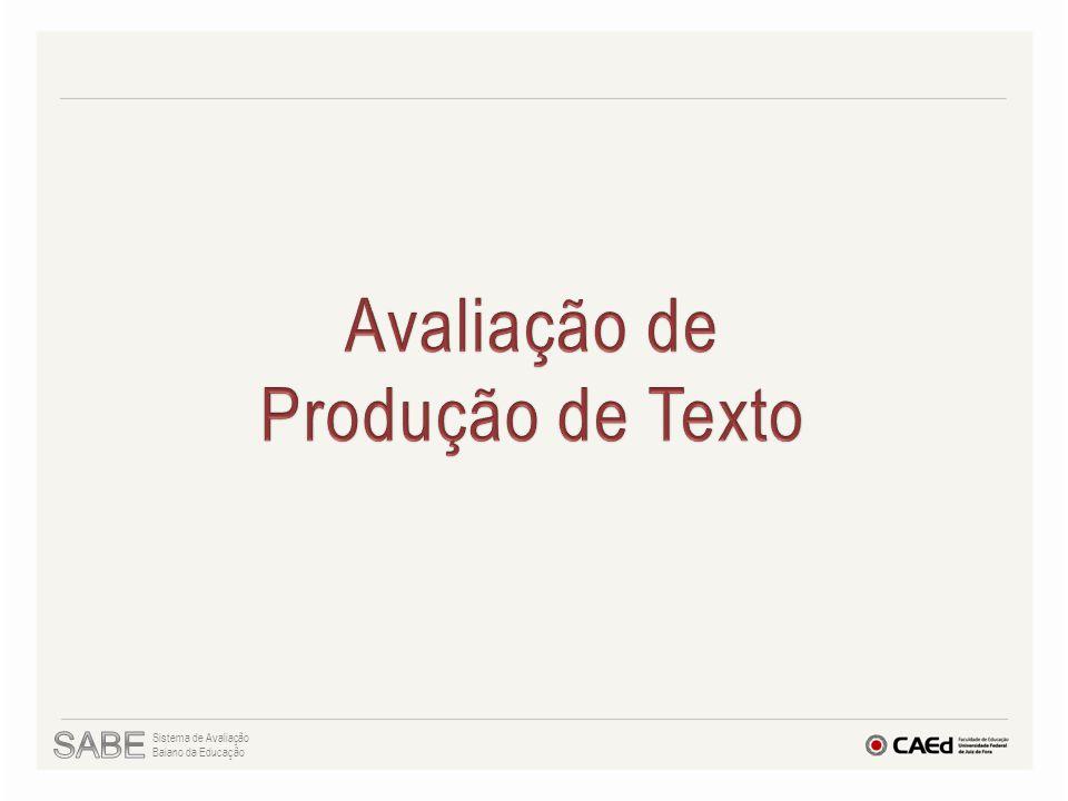 Avaliação de Produção de Texto SABE