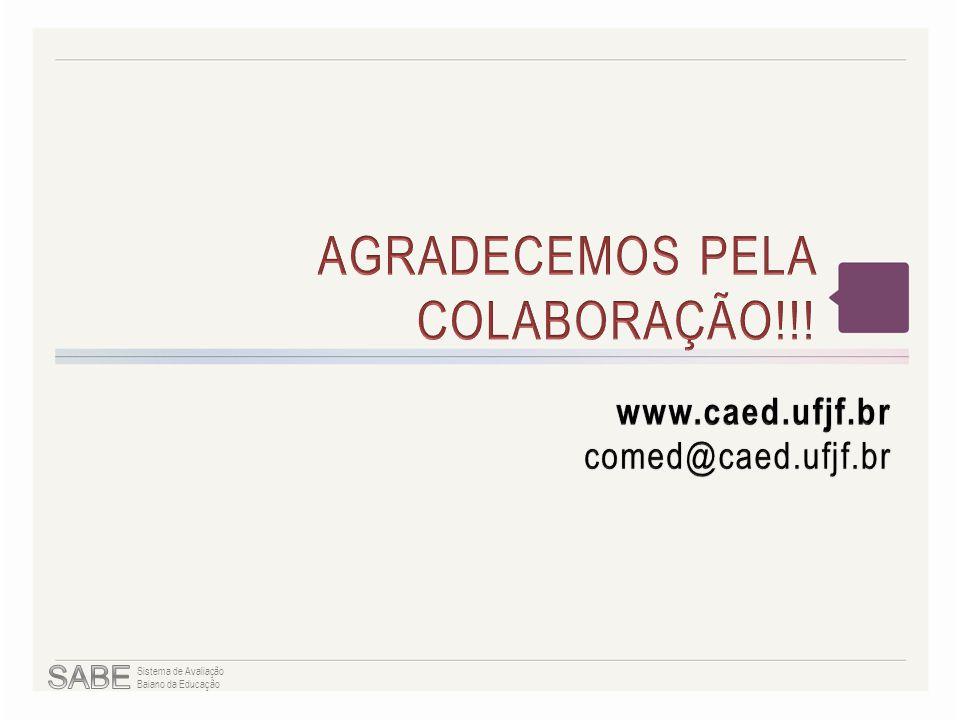 AGRADECEMOS PELA COLABORAÇÃO!!!